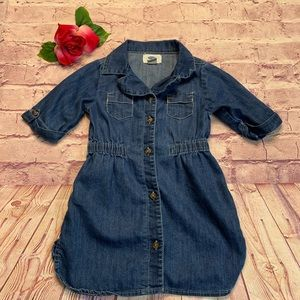 Old Navy Girls 3T Blue 1/2 Sleeve Denim Dress